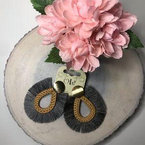 Bohemian style fringed earrings